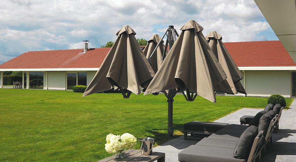 sonnenschirme ampelschirme f r terrasse und balkon vom fachmann. Black Bedroom Furniture Sets. Home Design Ideas
