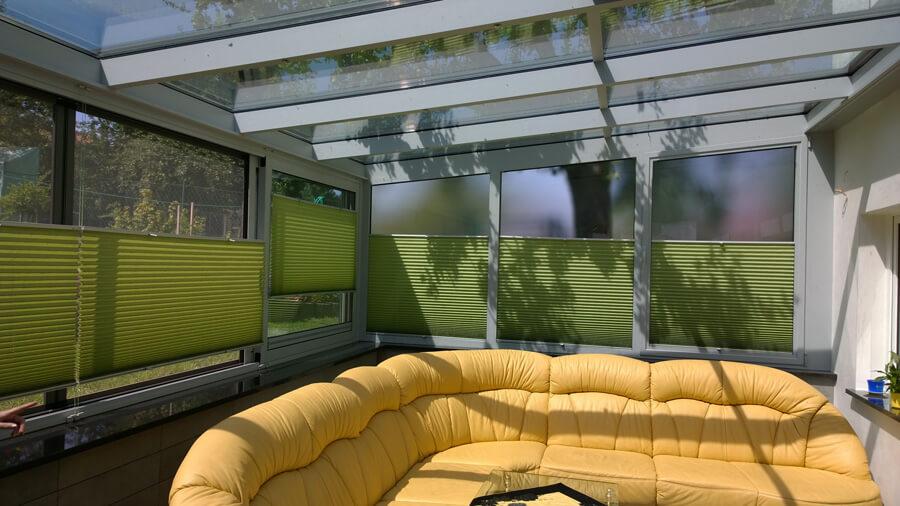 Plissee Für Wintergarten kunden kauften plissees bei sonnenschutz direkt in thüringen